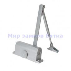 Доводчик дверной (TD-100) с фиксацией 90° серебро