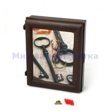 Ключница пластиковая (коричневая, ключи)