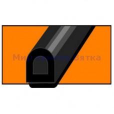 WINDOOR-54 D-профиль (черный) 50м 12*10мм уплотнитель